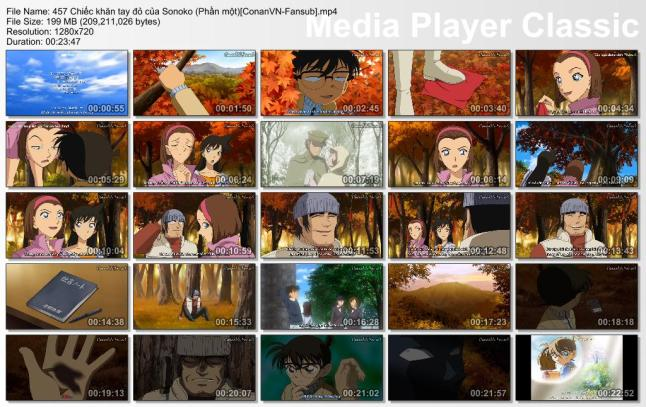 457 Chiếc khăn tay đỏ của Sonoko (Phần một) [ConanVN-Fansub]