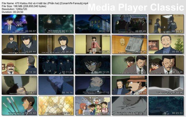 470 Kaitou Kid và bốn kiệt tác (Phần hai) [ConanVN-Fansub]