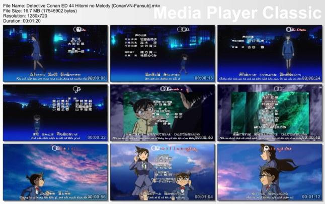 Detective Conan ED 44 Hitomi no Melody [ConanVN-Fansub]