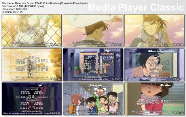 Detective Conan ED 43 Koi ni Koishite [ConanVN-Fansub]