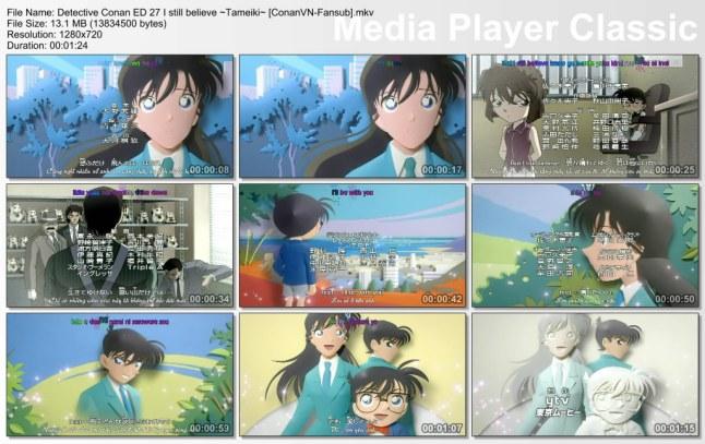 Detective Conan ED 27 I still believe ~Tameiki~ [ConanVN-Fansub]