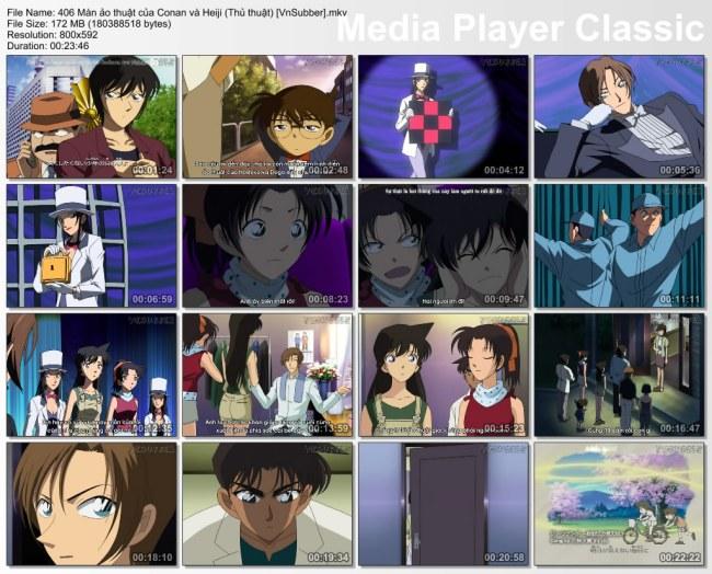406 Màn ảo thuật của Conan và Heiji (Thủ thuật) [VnSubber]
