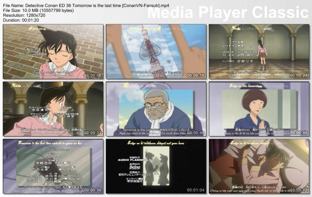 Detective Conan ED 36 Tomorrow is the last time [ConanVN-Fansub]