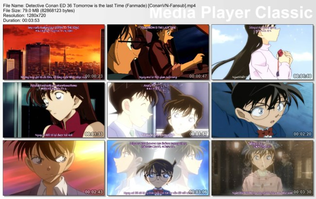 Detective Conan ED 36 Tomorrow is the last Time (Fanmade) [ConanVN-Fansub]