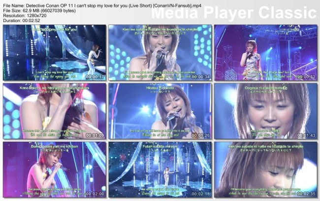 Detective Conan OP 11 I can't stop my love for you (Live Short) [ConanVN-Fansub]