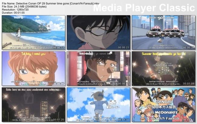 Detective Conan OP 29 Summer time gone [ConanVN-Fansub]