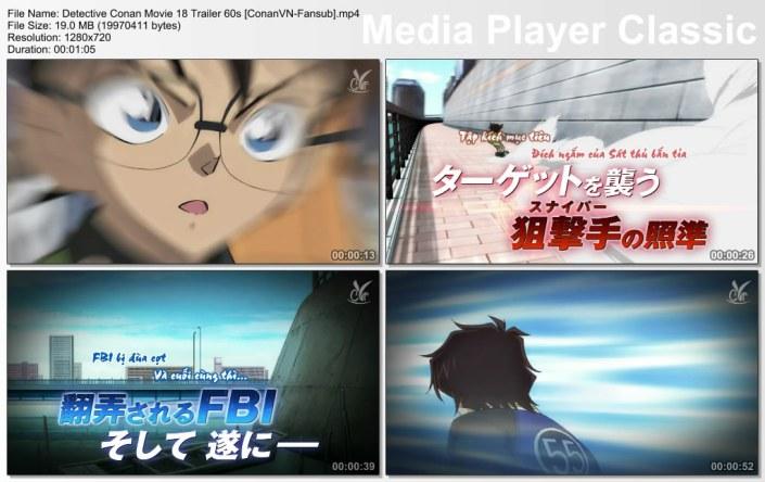 Detective Conan Movie 18 Trailer 60s [ConanVN-Fansub]