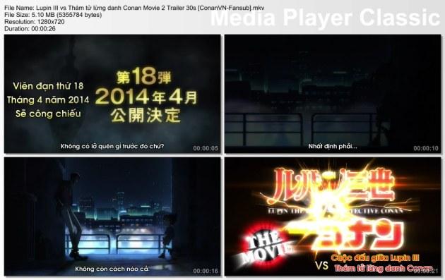 Lupin III vs Thám tử lừng danh Conan Movie 2 Trailer 30s [ConanVN-Fansub]