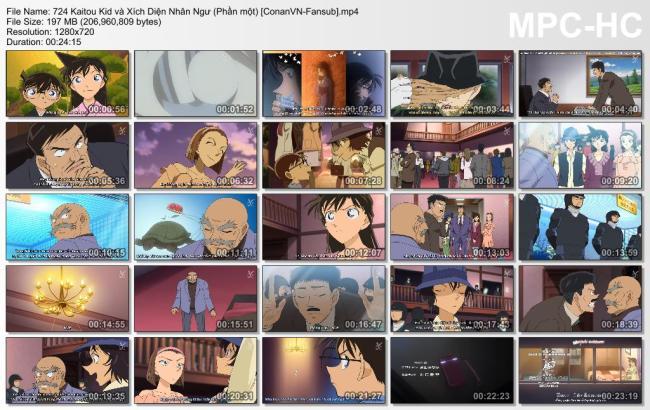 724 Kaitou Kid và Xích Diện Nhân Ngư (Phần một) [ConanVN-Fansub]