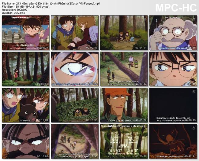213 Nấm, gấu và Đội thám tử nhí(Phần hai)[ConanVN-Fansub]