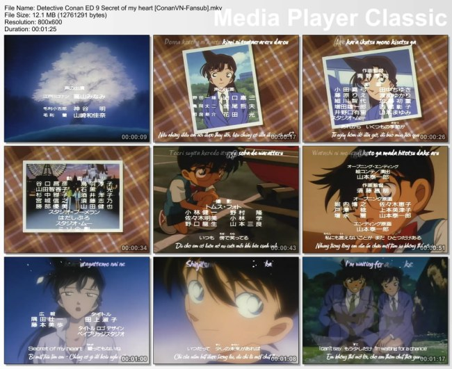 Detective Conan ED 9 Secret of my heart [ConanVN-Fansub]