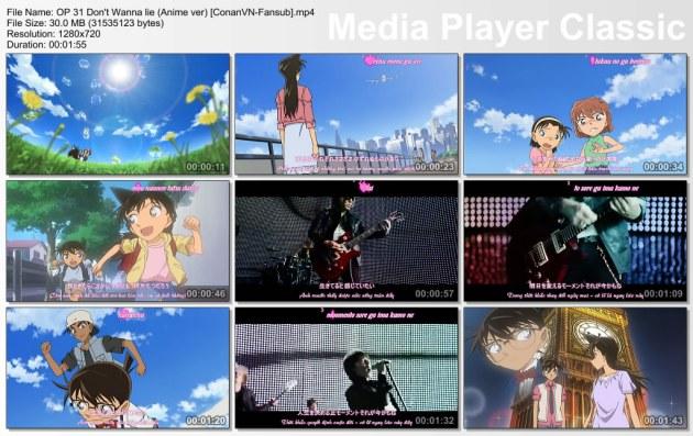 OP 31 Don't Wanna lie (Anime ver) [ConanVN-Fansub]
