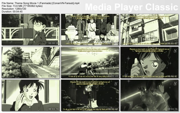 Theme Song Movie 1 (Fanmade) [ConanVN-Fansub]