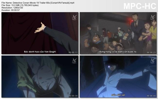 Detective Conan Movie 19 Trailer 60s [ConanVN-Fansub]