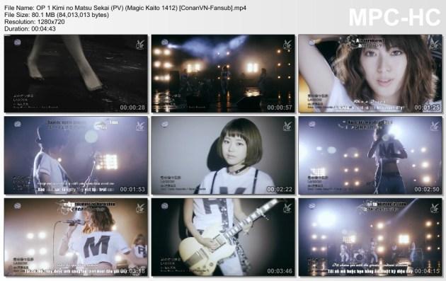 OP 1 Kimi no Matsu Sekai (PV) (Magic Kaito 1412) [ConanVN-Fansub]