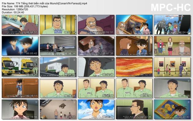 774 Tiếng thét biến mất của Munch[ConanVN-Fansub]