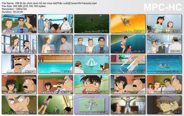 788 Bí ẩn chìm dưới hồ bơi mùa hè(Phần cuối)[ConanVN-Fansub]