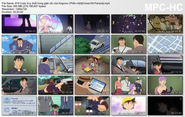 818 Cuộc truy đuổi trong giận dữ của Kogorou (Phần một)[ConanVN-Fansub]