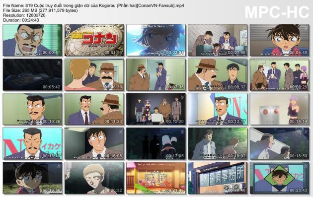 819 Cuộc truy đuổi trong giận dữ của Kogorou (Phần hai)[ConanVN-Fansub]